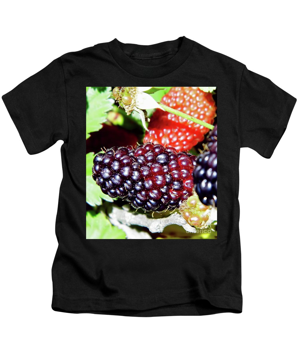 Black Berry Kids T-Shirt featuring the photograph Home Grown by D Hackett