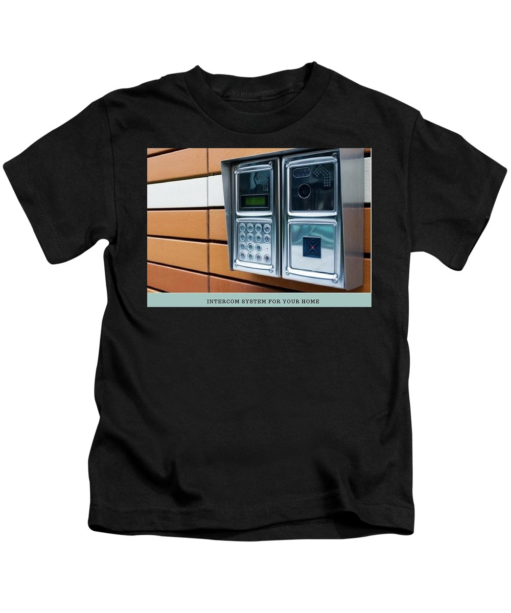 Dee Why Locksmith Kids T-Shirt featuring the photograph Home Intercom System by Glenn Muller