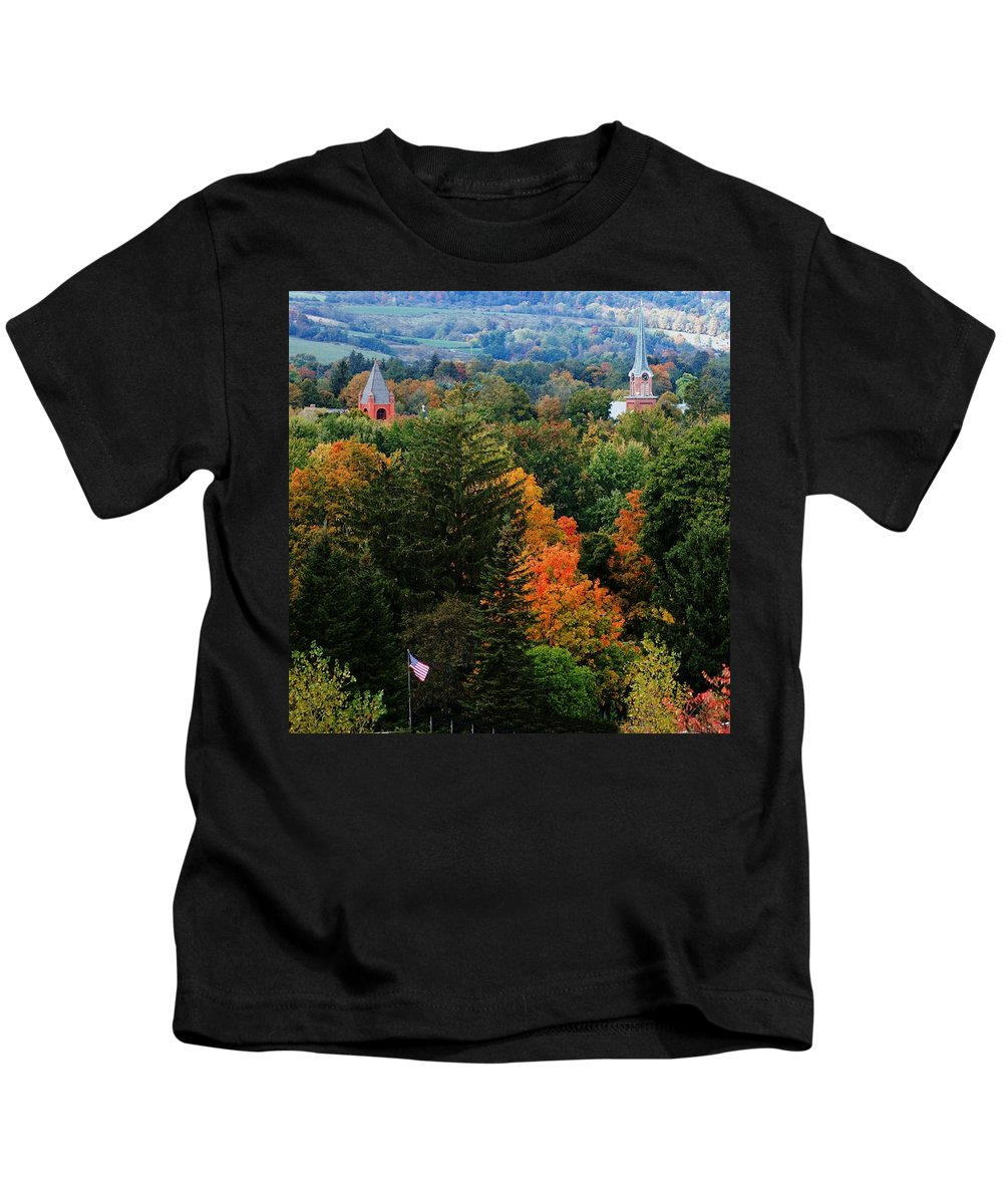 Landscape Kids T-Shirt featuring the photograph Homer Ny by David Lane