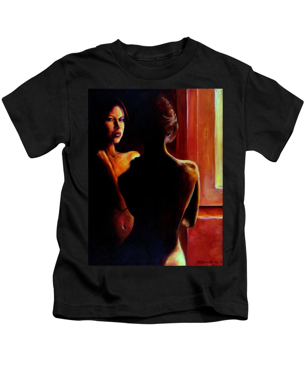 Nude Kids T-Shirt featuring the painting Honestly by Jason Reinhardt