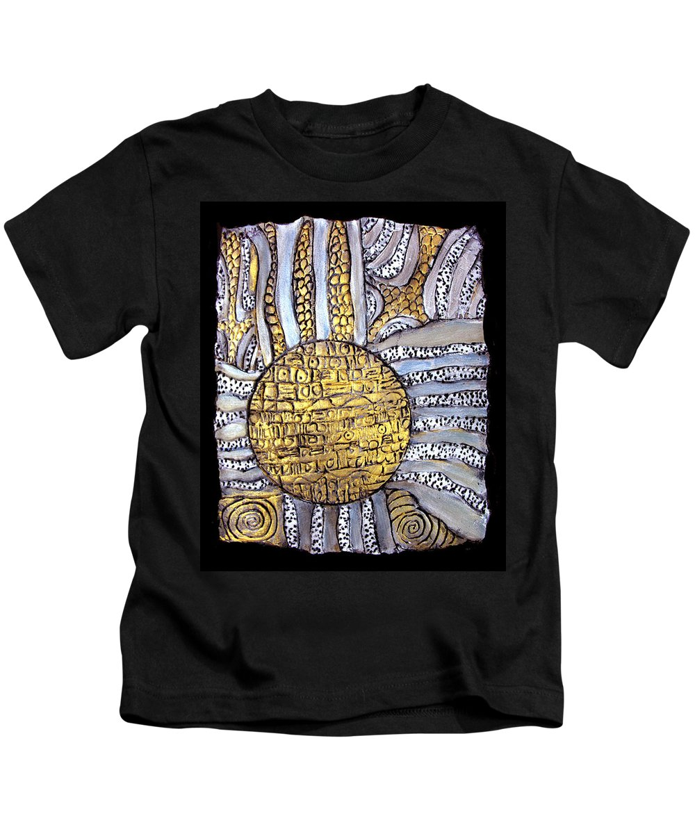Metal Kids T-Shirt featuring the painting Honor To The Sun by Wayne Potrafka