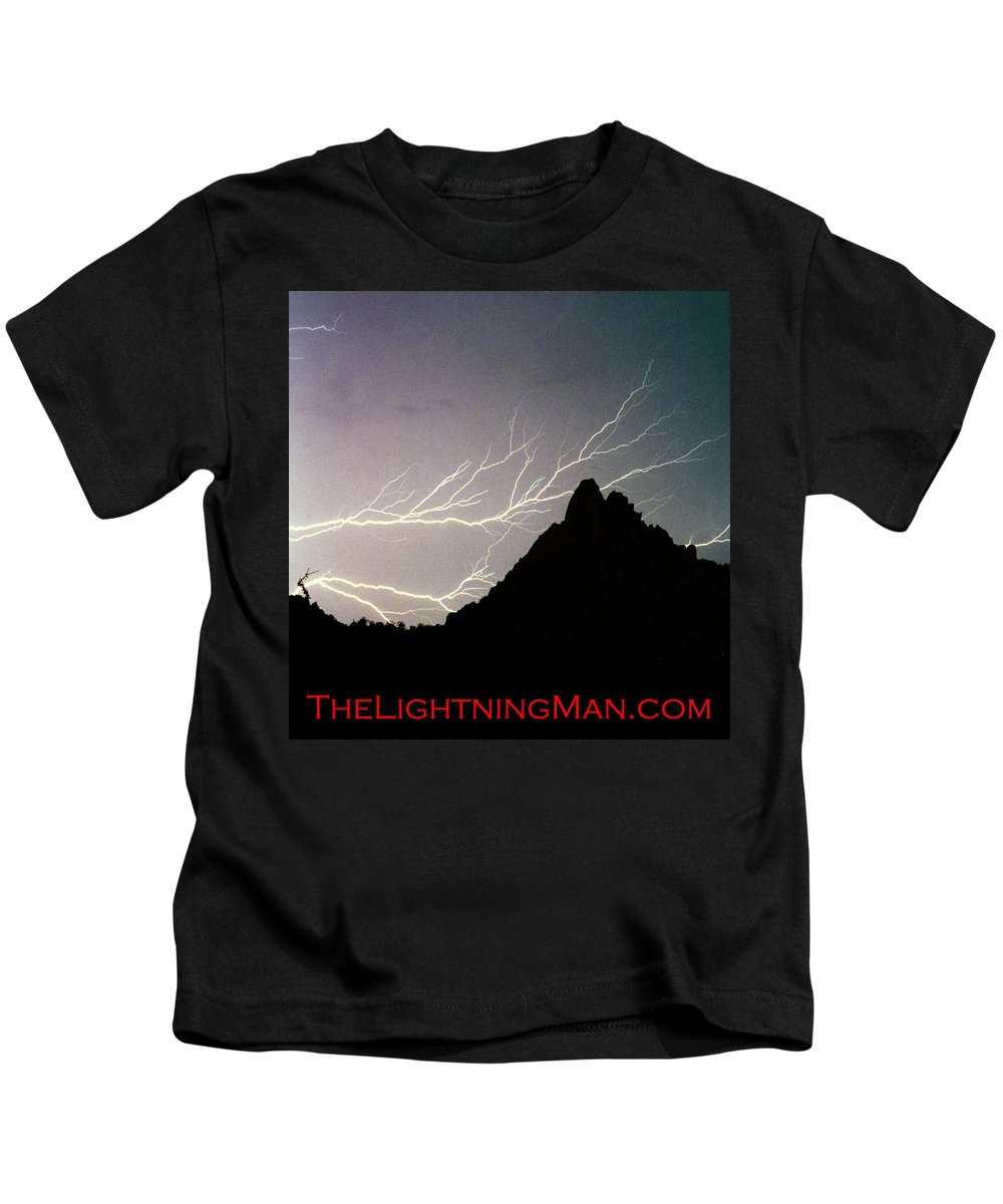 Lightning Kids T-Shirt featuring the photograph Horizonal Lightning Poster by James BO Insogna