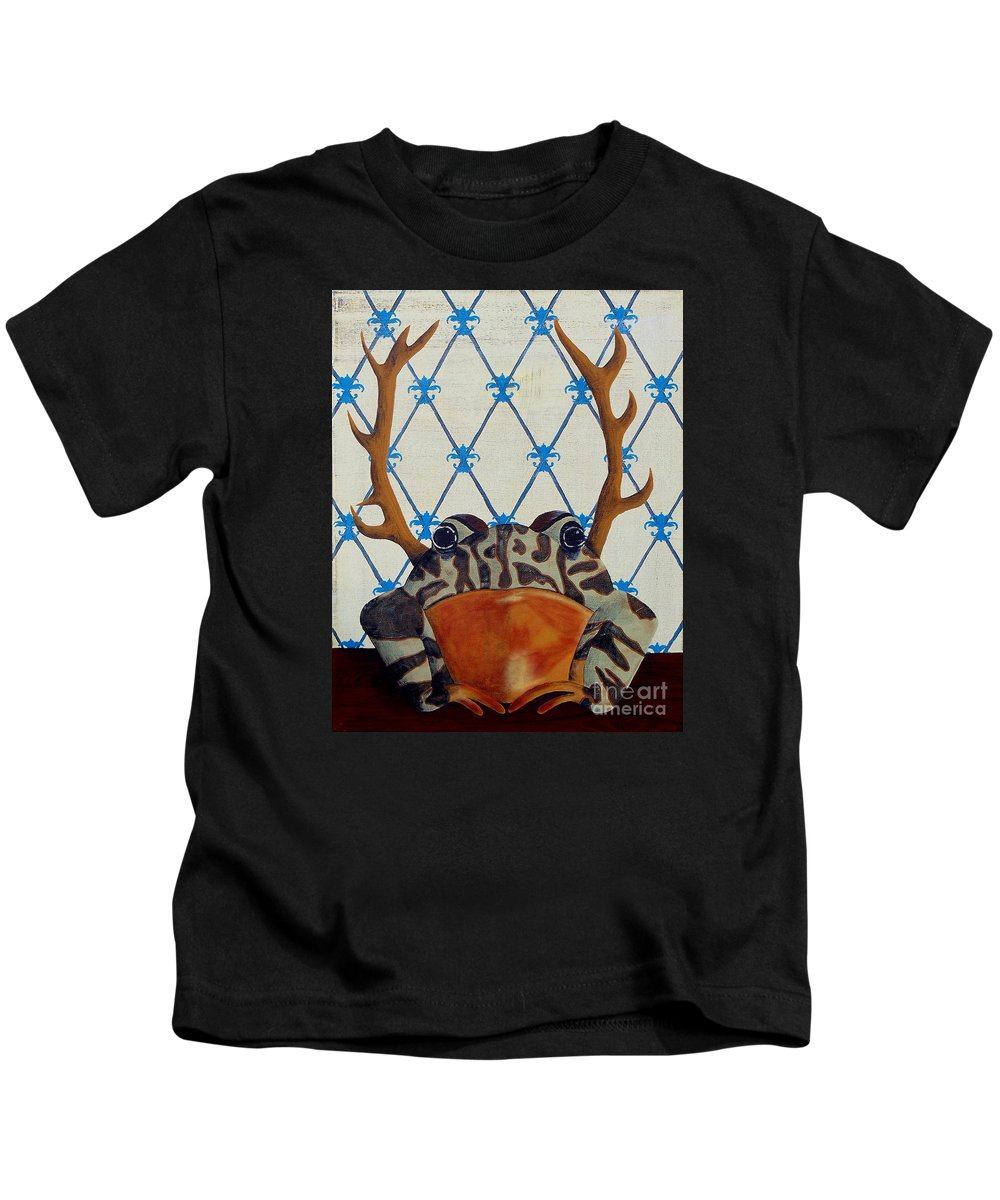 Turkey Kids T-Shirt featuring the painting Horny Toad by Jade Kozlowski-Goetz