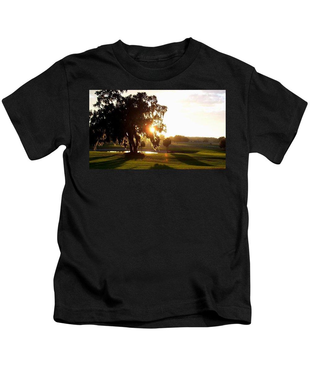 Sunset Kids T-Shirt featuring the photograph Horse Country Sunset by Kristen Wesch