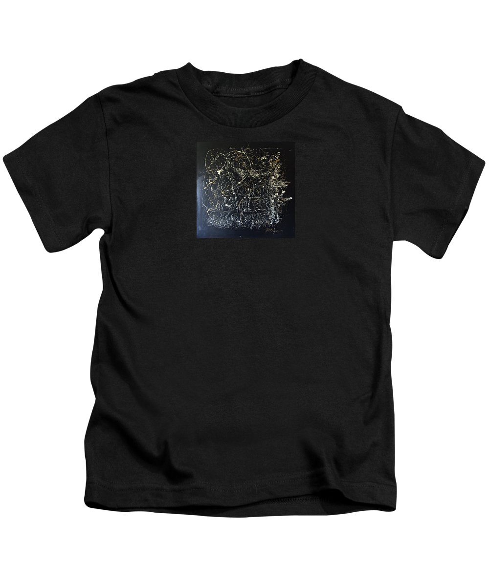 Abstract/impressionist Painting Kids T-Shirt featuring the mixed media Horse In Pasture by J R Seymour