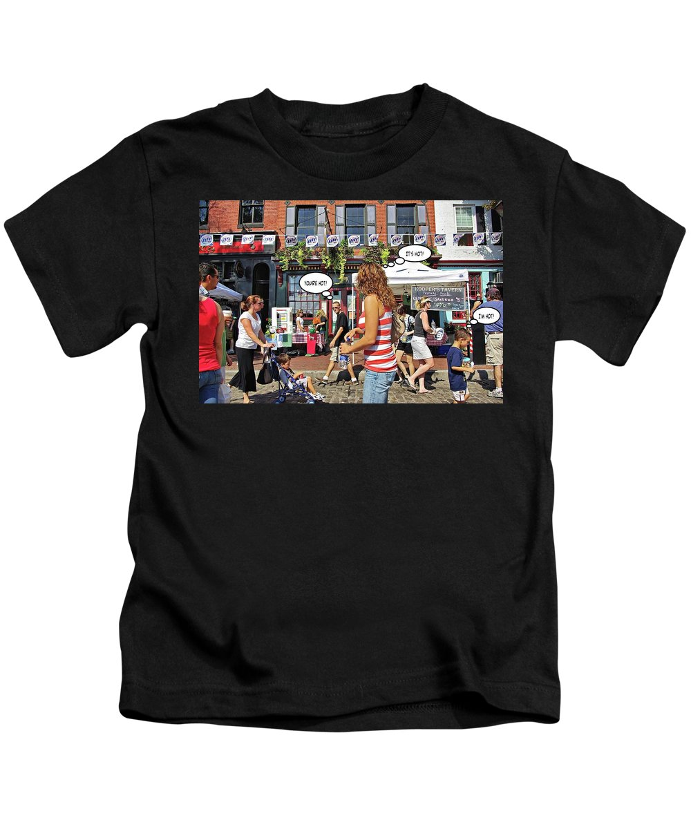 2d Kids T-Shirt featuring the photograph Hot by Brian Wallace