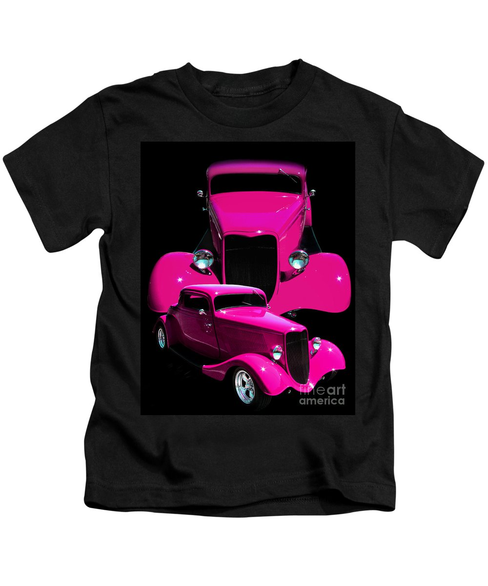 Hot Pink 33 Kids T-Shirt featuring the photograph Hot Pink 33 by Peter Piatt