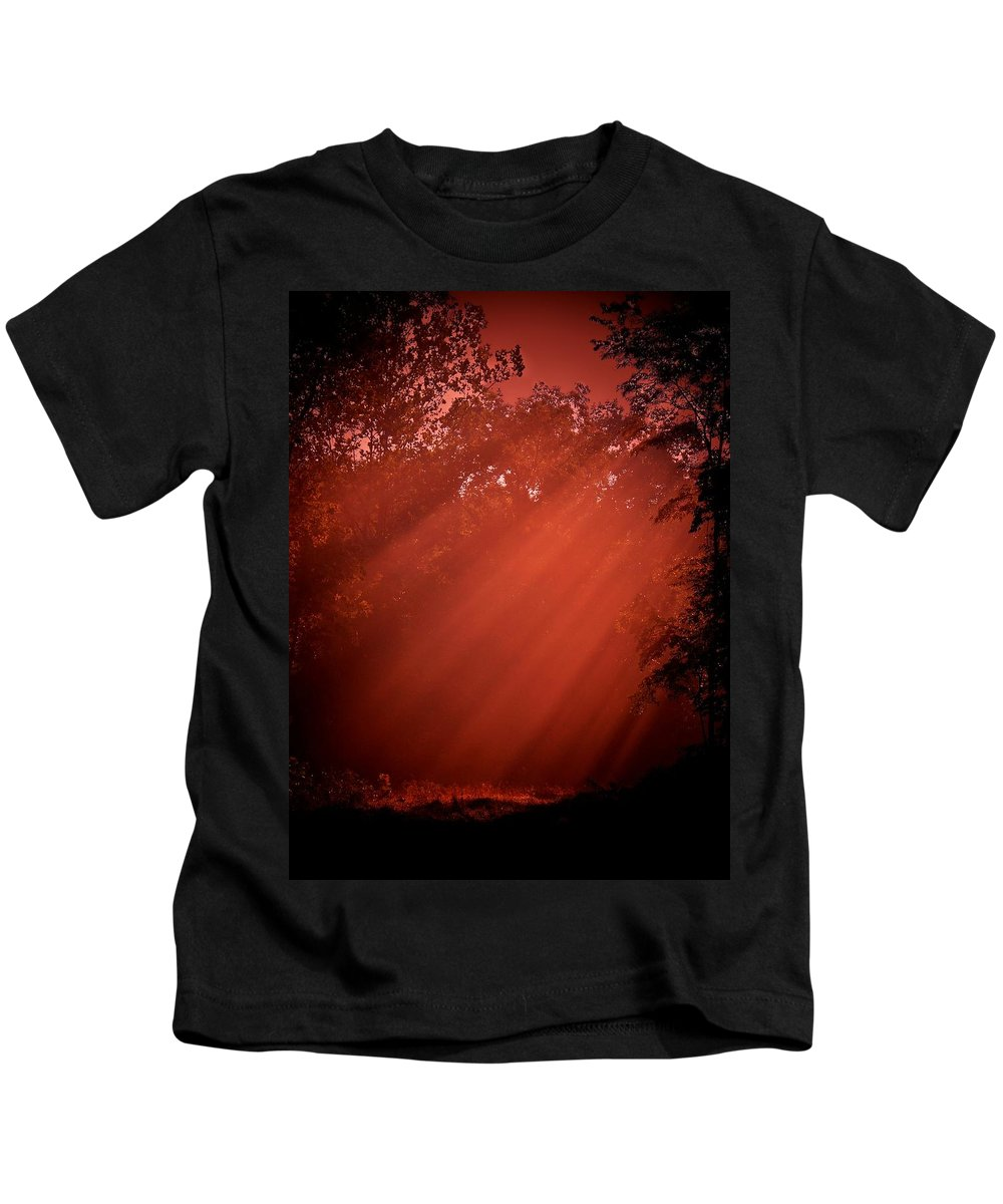 Kids T-Shirt featuring the photograph Hot Rays Of Sun by Trish Tritz