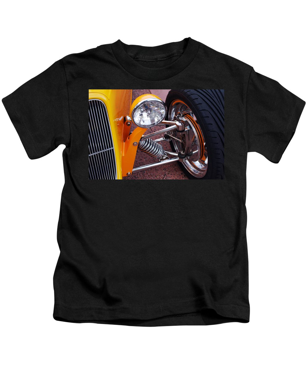 Car Kids T-Shirt featuring the photograph Hot Rod Headlight by Jill Reger