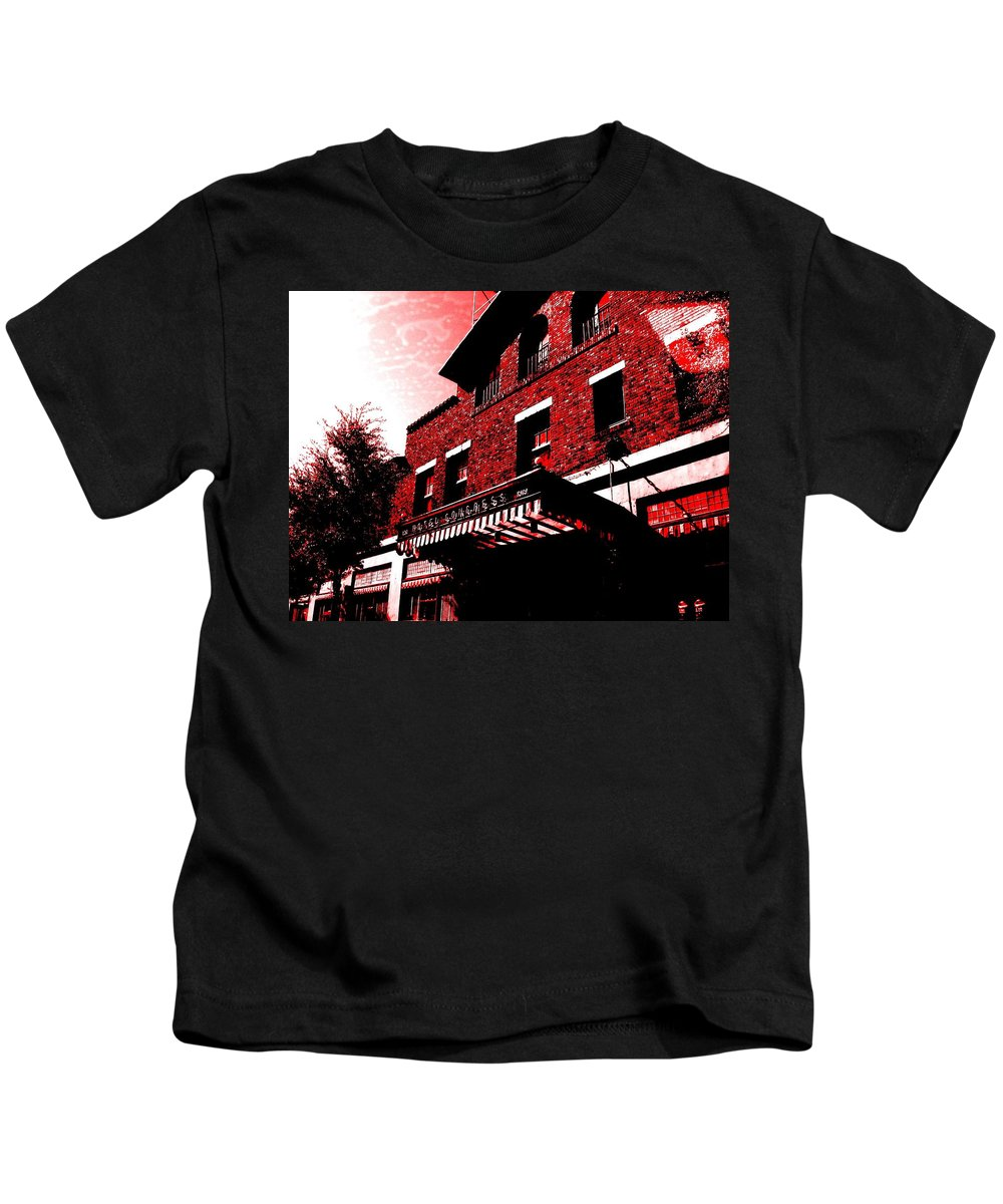 Downtown Tucson Kids T-Shirt featuring the photograph Hotel Congress by MB Dallocchio