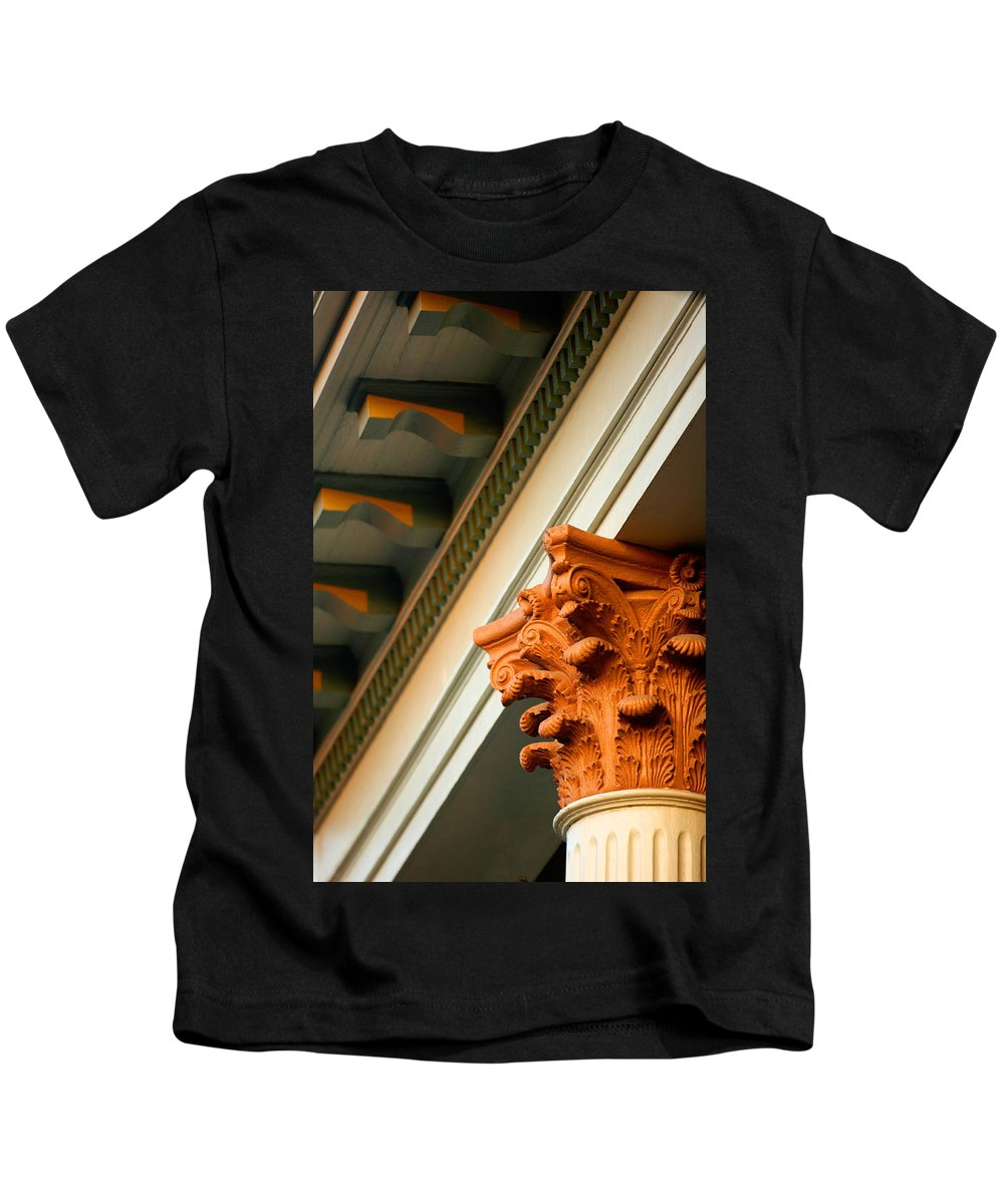Architecture Kids T-Shirt featuring the photograph House Column by Jill Reger