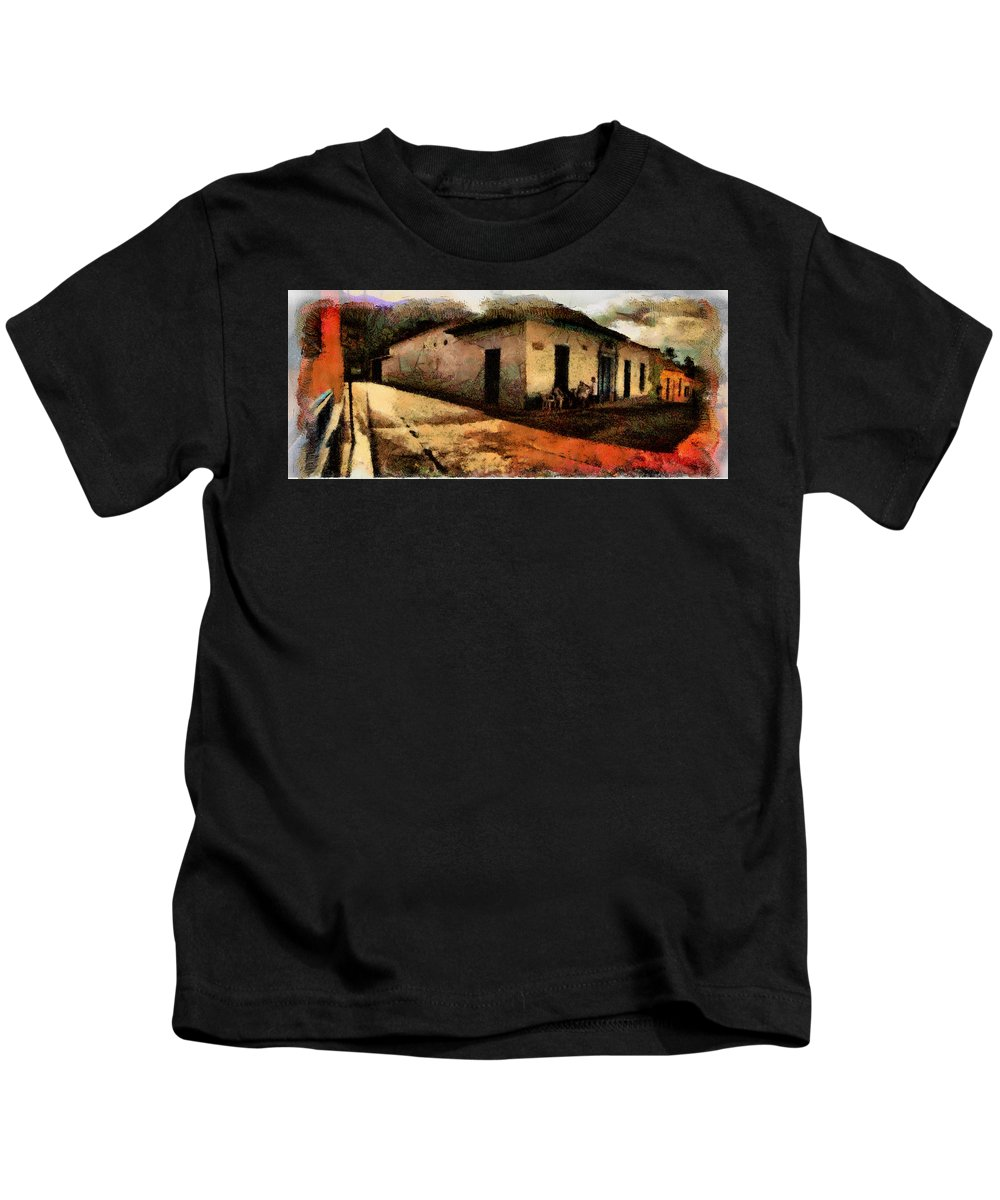 House Kids T-Shirt featuring the photograph Houses Of Choroni by Galeria Trompiz