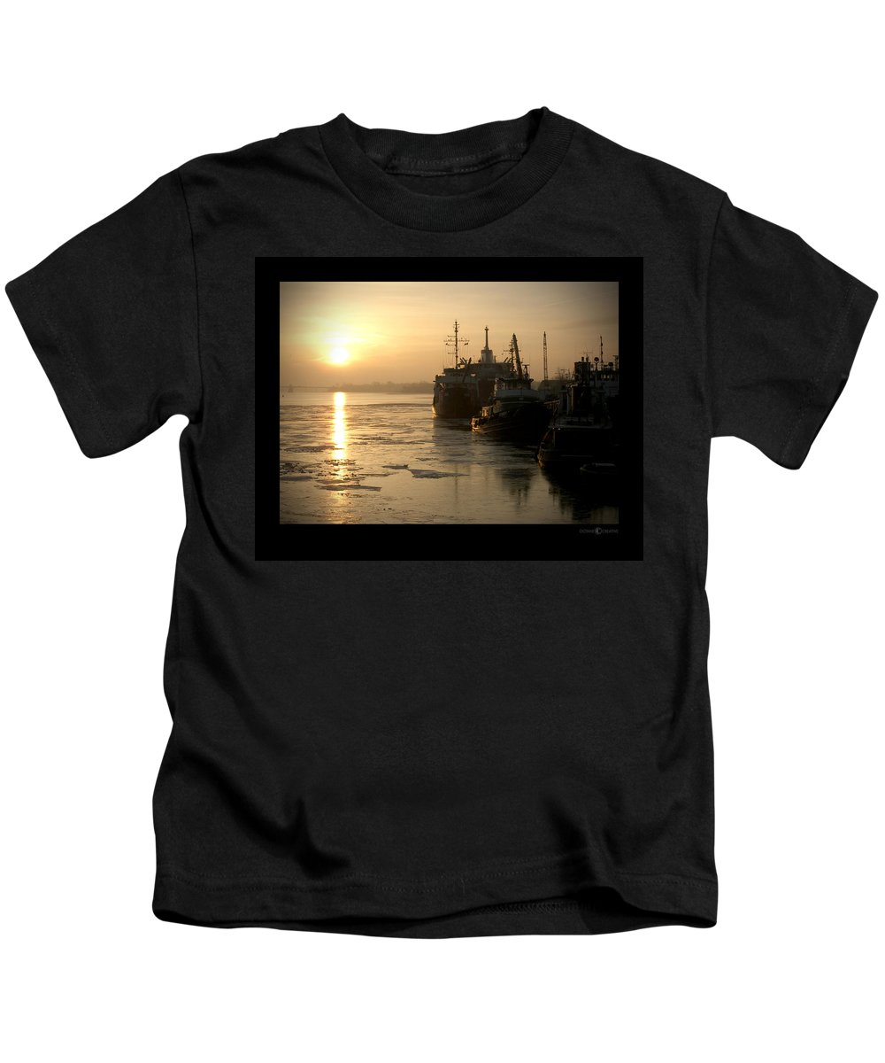 Boat Kids T-Shirt featuring the photograph Huddled Boats by Tim Nyberg