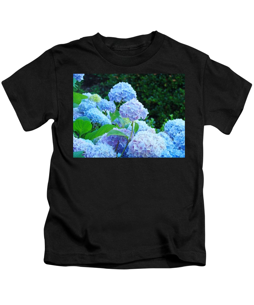 Landscape Kids T-Shirt featuring the photograph Hydrangea Garden Landscape Art Prints Baslee Troutman by Baslee Troutman