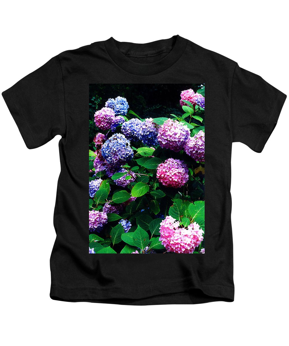 Flowers Kids T-Shirt featuring the photograph Hydrangeas by Nancy Mueller