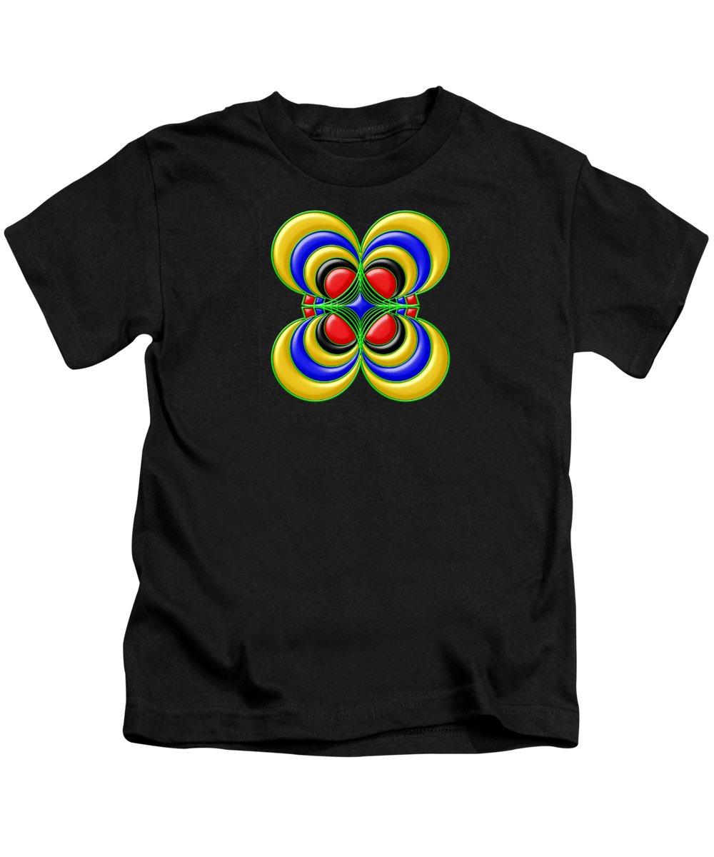 Bright Kids T-Shirt featuring the digital art Hypnotic by Anastasiya Malakhova
