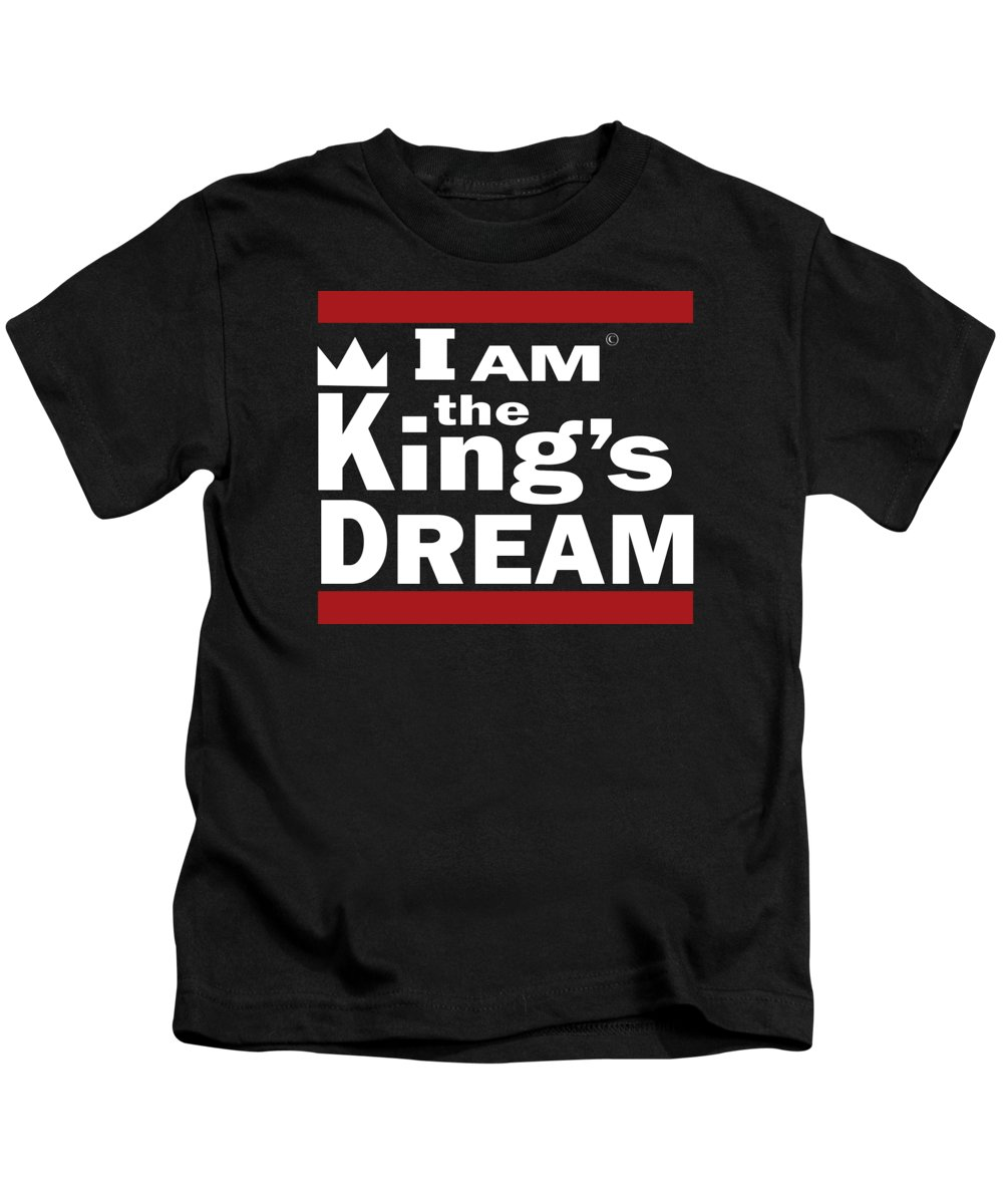 I Am The Kings Dream Kids T-Shirt featuring the digital art I Am The Kings Dream by Art the Artist Abdon
