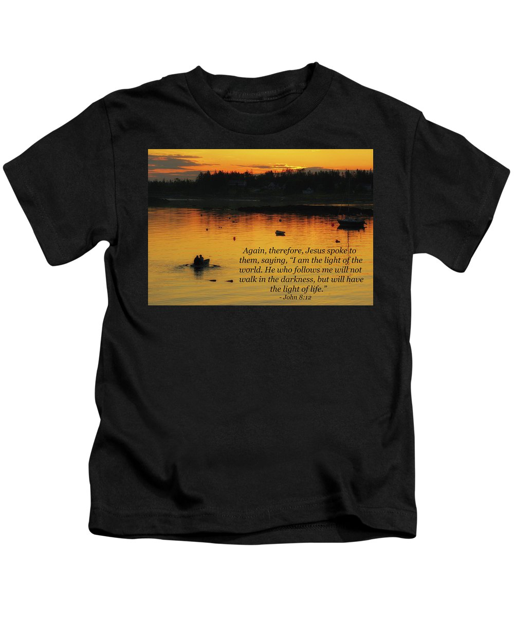 Landscape Kids T-Shirt featuring the photograph I Am The Light Of The World by Kim Warden