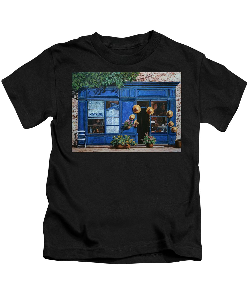 Shop Kids T-Shirt featuring the painting I Cappelli Gialli by Guido Borelli