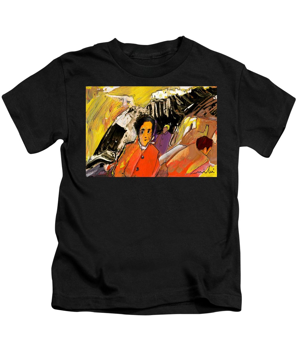 Portraits Kids T-Shirt featuring the painting I Dreamt Of Oscar Wilde by Miki De Goodaboom