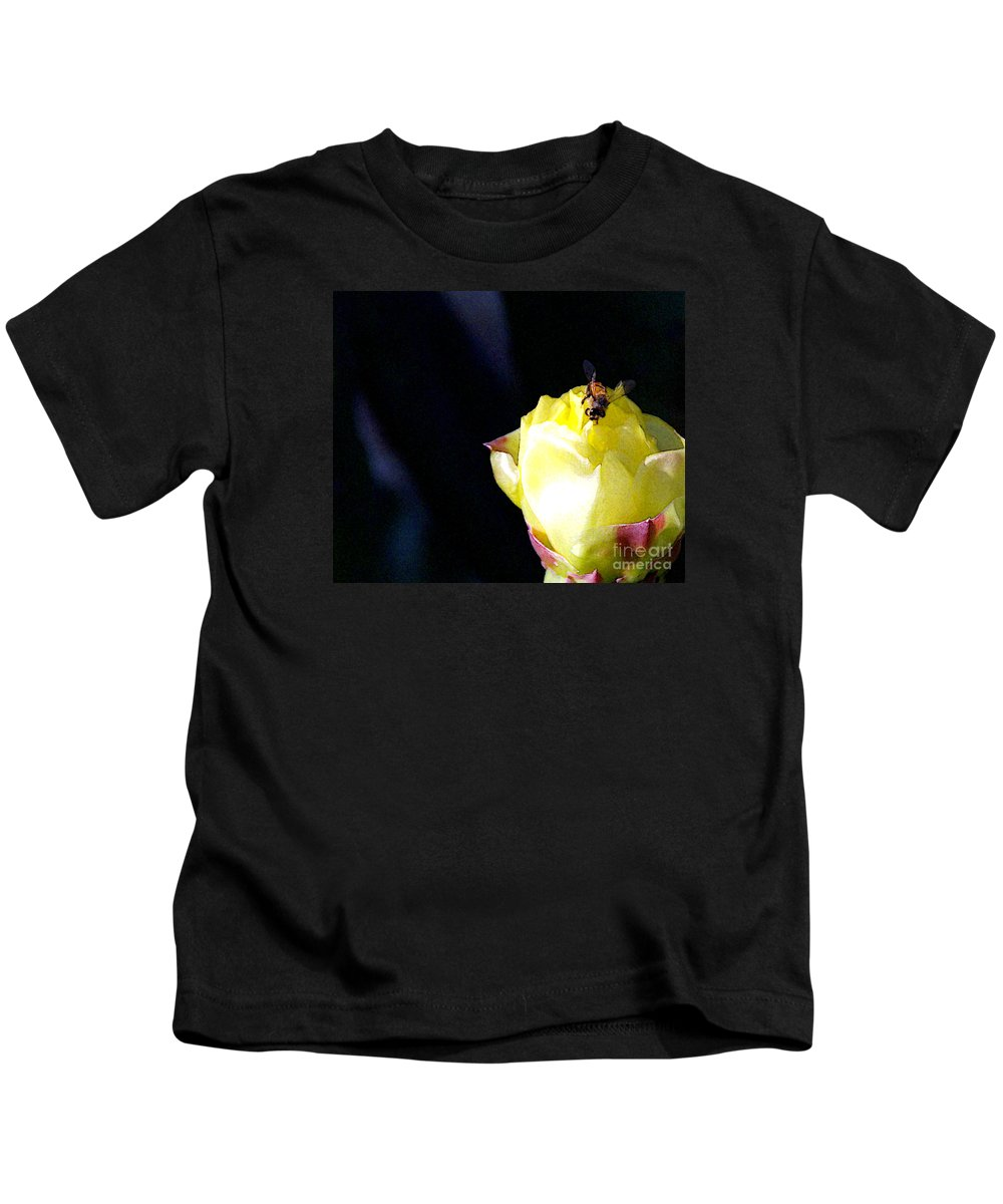 Cactus Kids T-Shirt featuring the photograph I Feel You Always Near by Linda Shafer