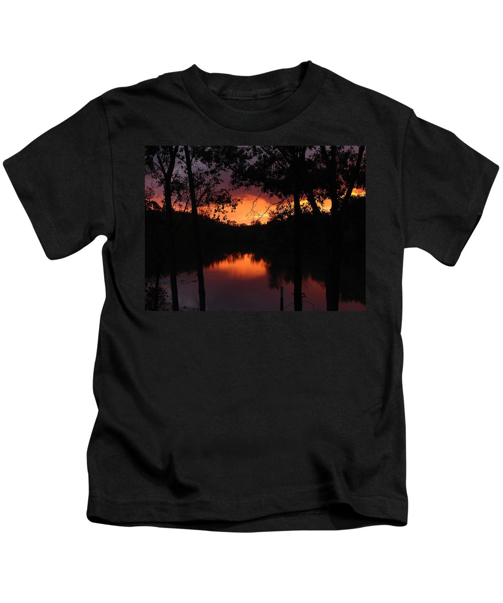 Sunset Kids T-Shirt featuring the photograph I Found Red October by J R Seymour