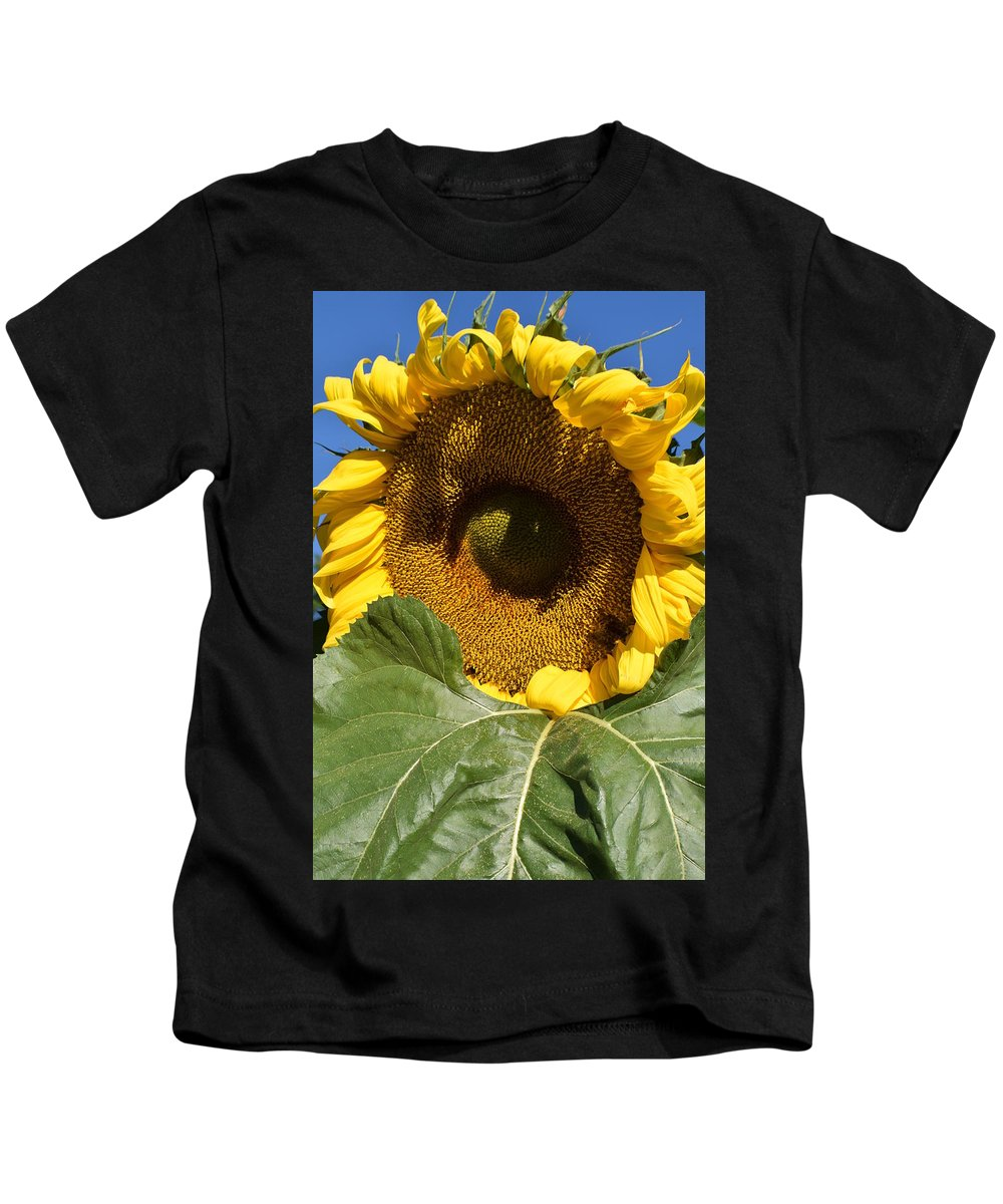 Sunflower Kids T-Shirt featuring the photograph I Got An Eye On You by Jimmy Chuck Smith