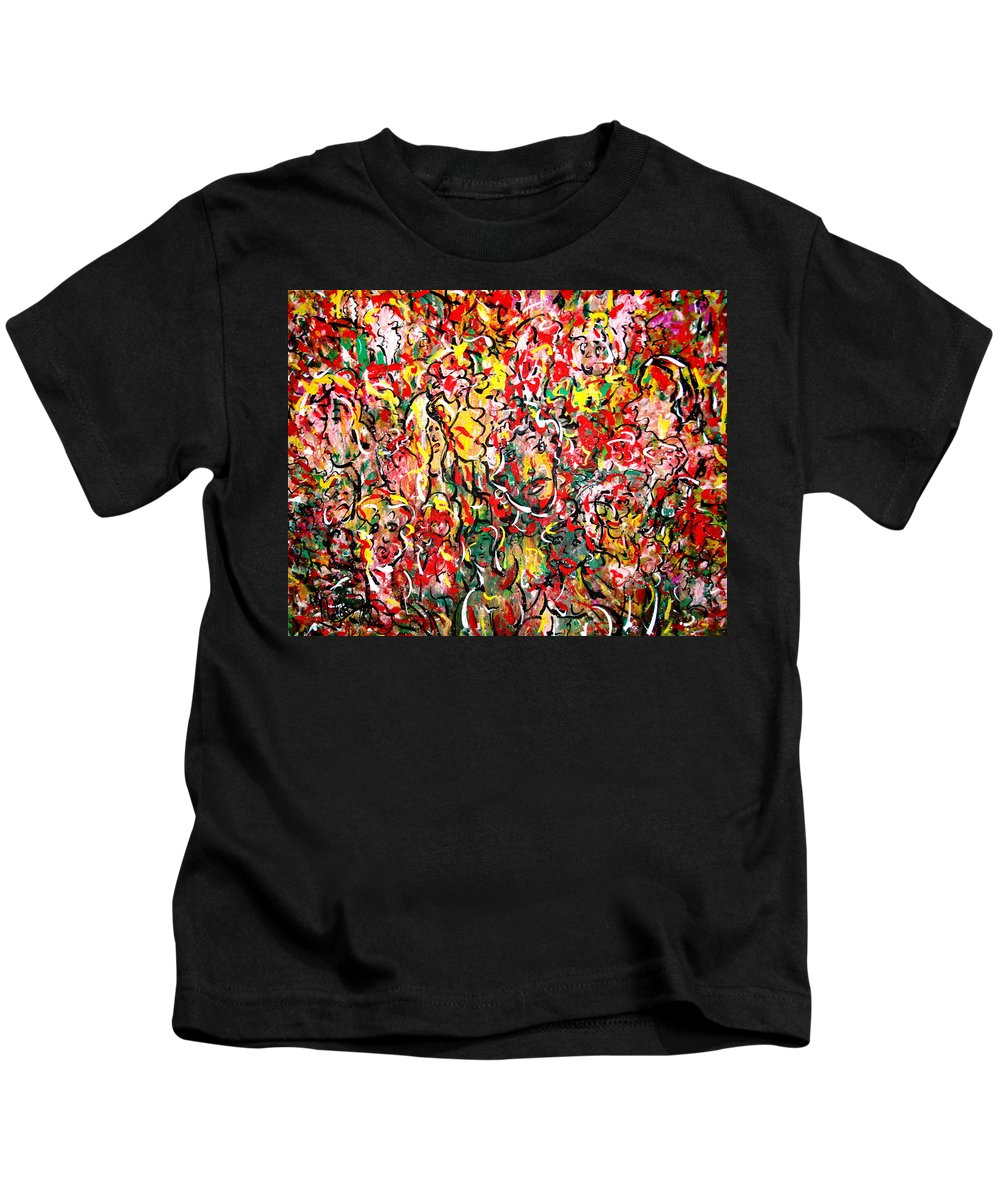 Party Kids T-Shirt featuring the painting I Love Natalie's Party by Natalie Holland