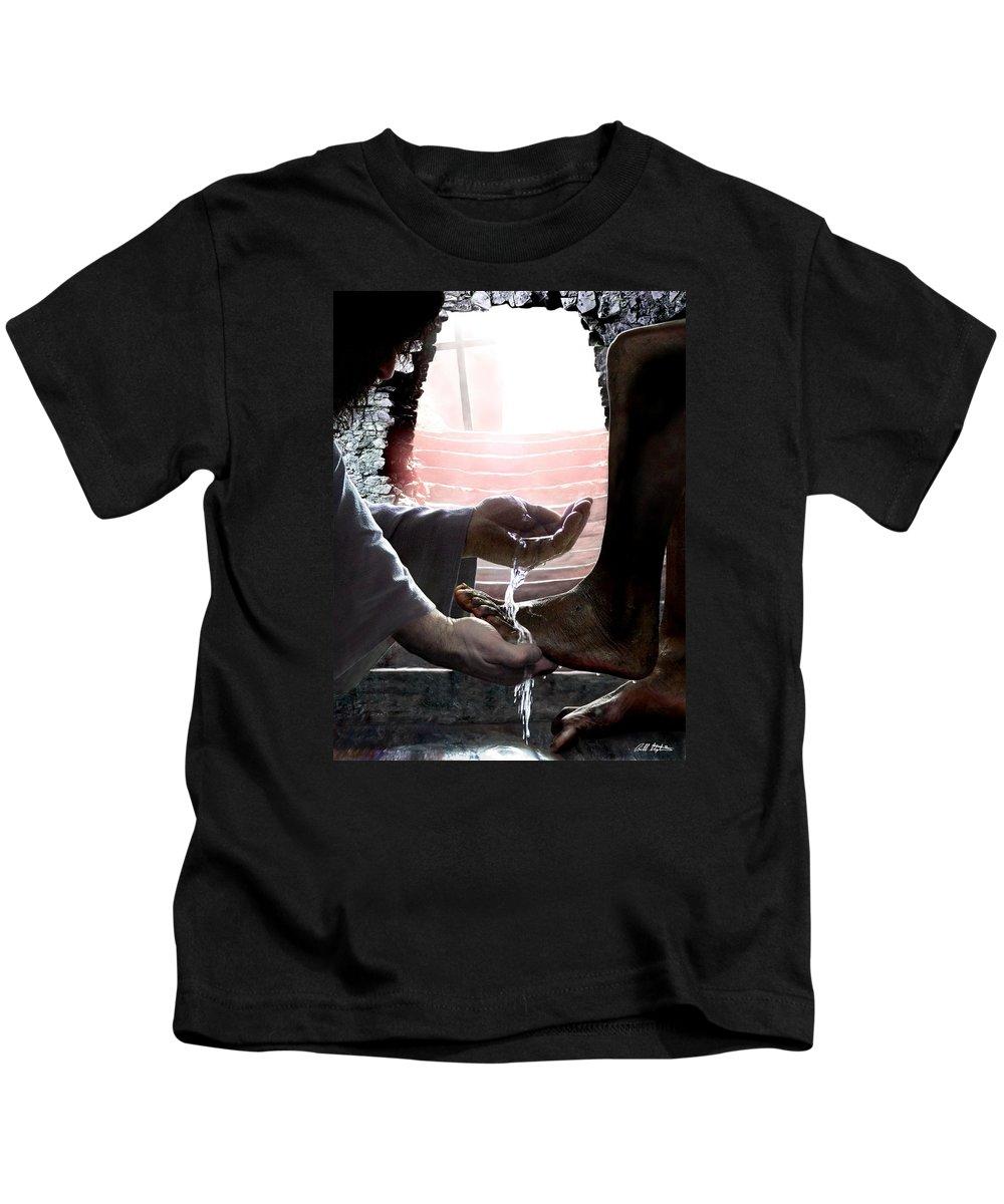 Spiritual Kids T-Shirt featuring the digital art I Love You by Bill Stephens