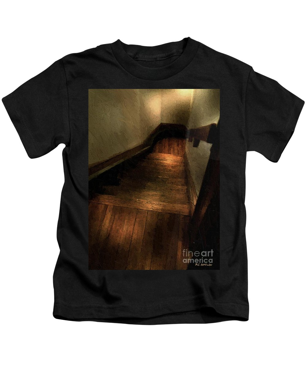 Dark Kids T-Shirt featuring the painting I Thought I Heard A Noise by RC DeWinter