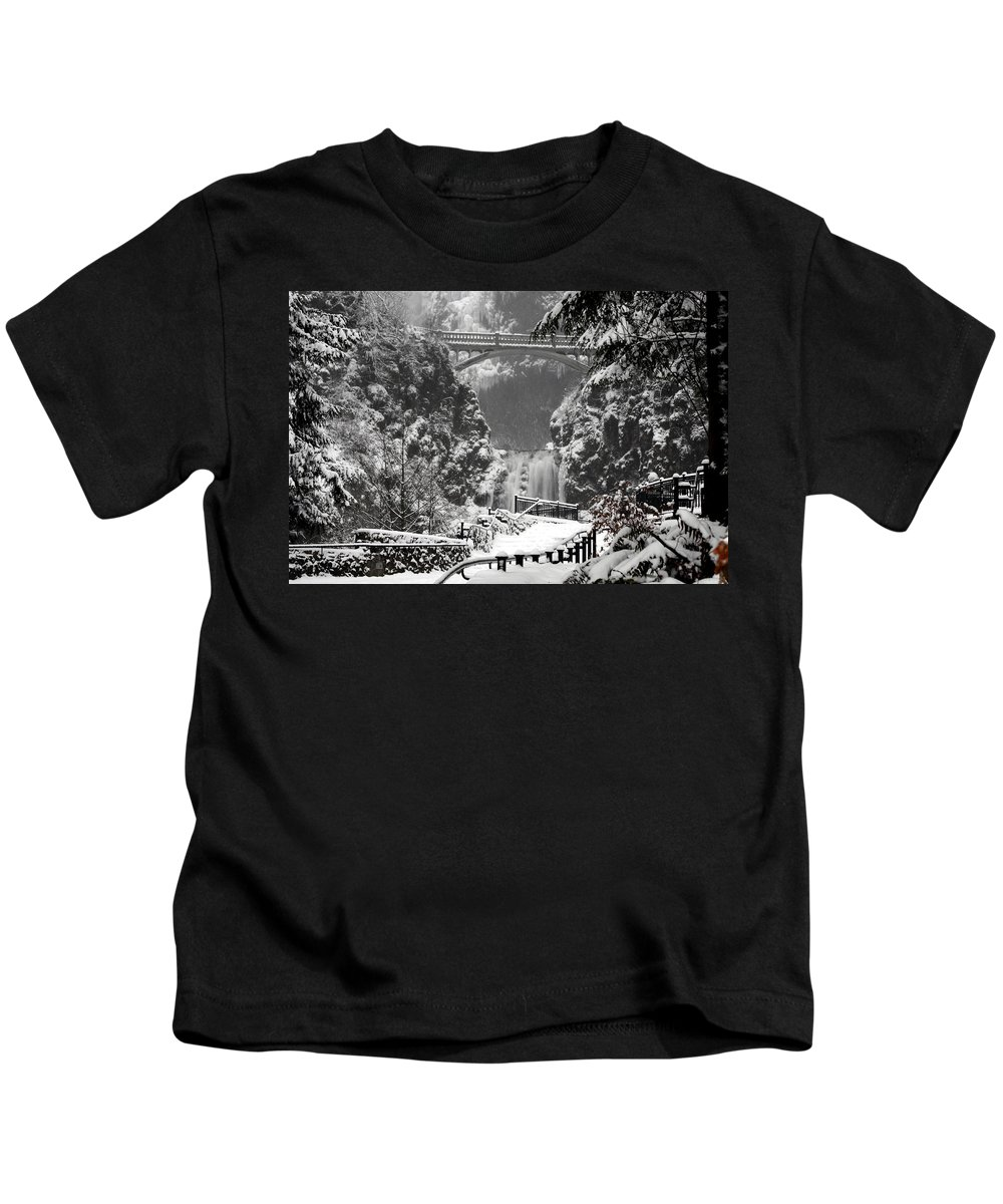 Ice Water Kids T-Shirt featuring the photograph Ice Water by Wes and Dotty Weber