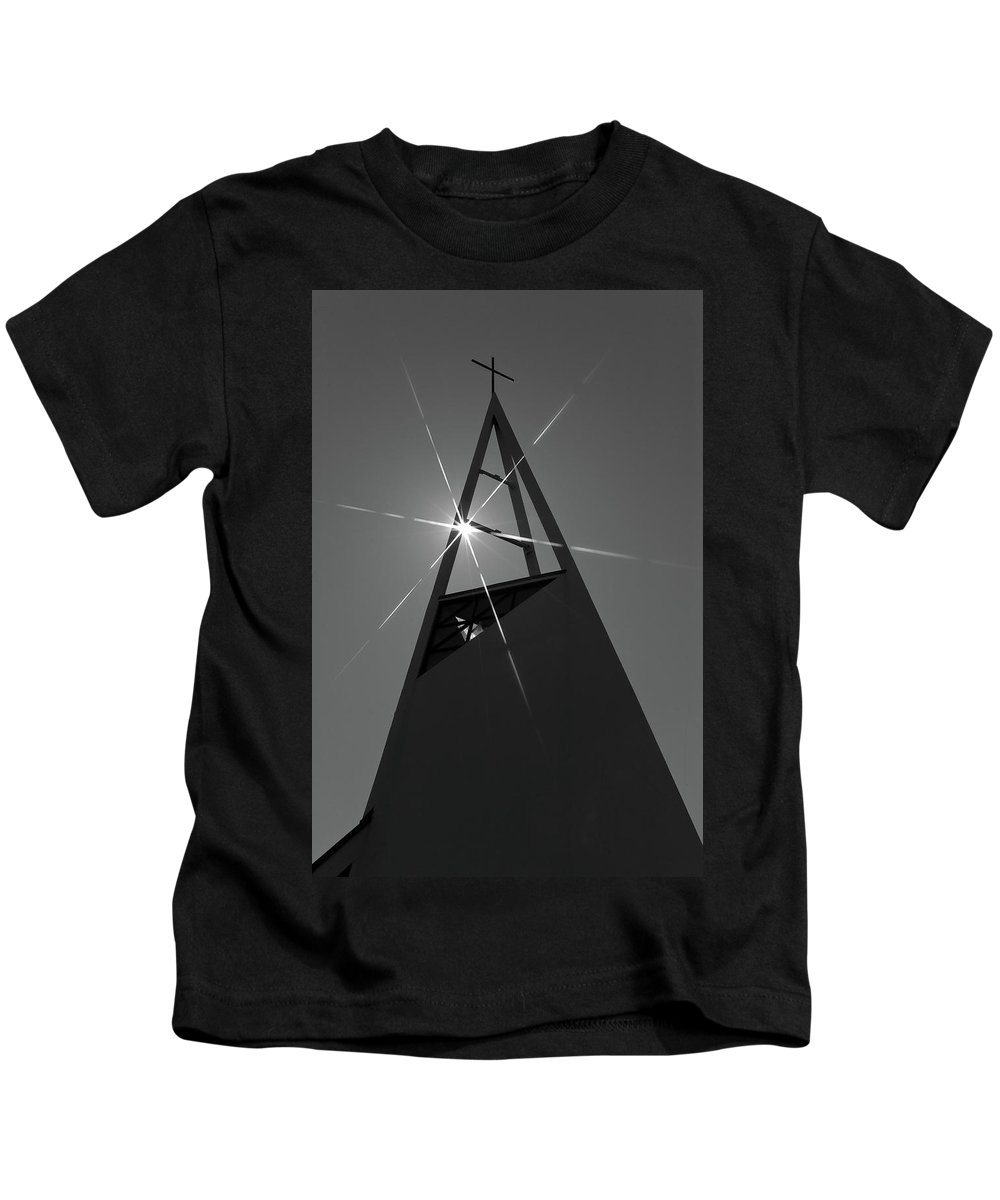 Church Kids T-Shirt featuring the photograph Icelandic Church by Kobi Amiel
