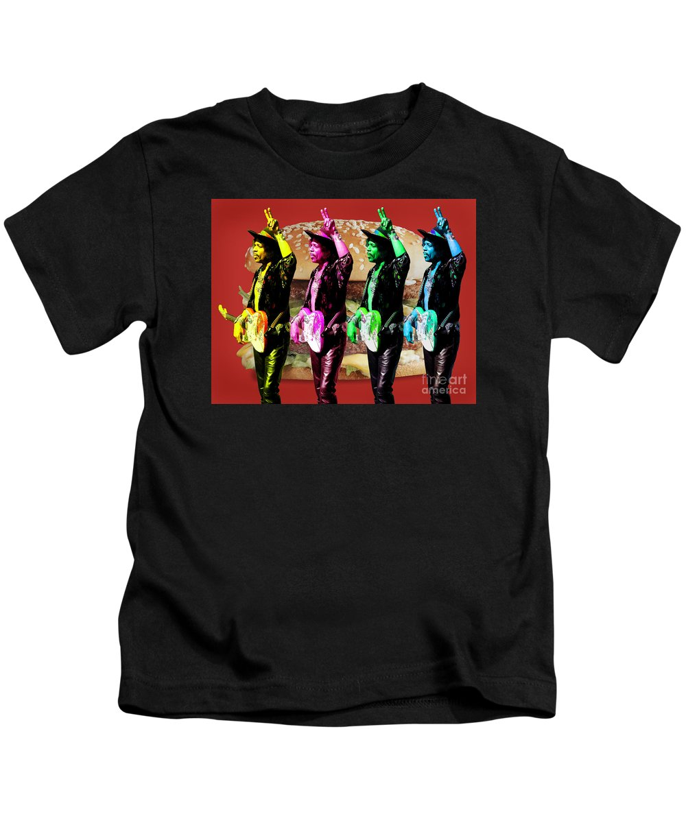Jimi Kids T-Shirt featuring the digital art Iconic Experience by Keith Dillon