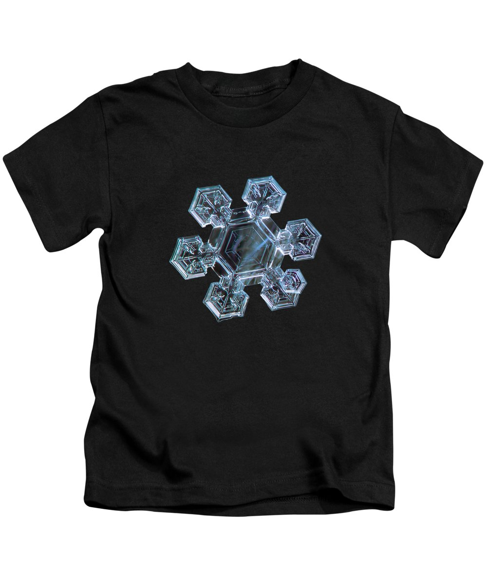 Snowflake Kids T-Shirt featuring the photograph Icy Jewel by Alexey Kljatov