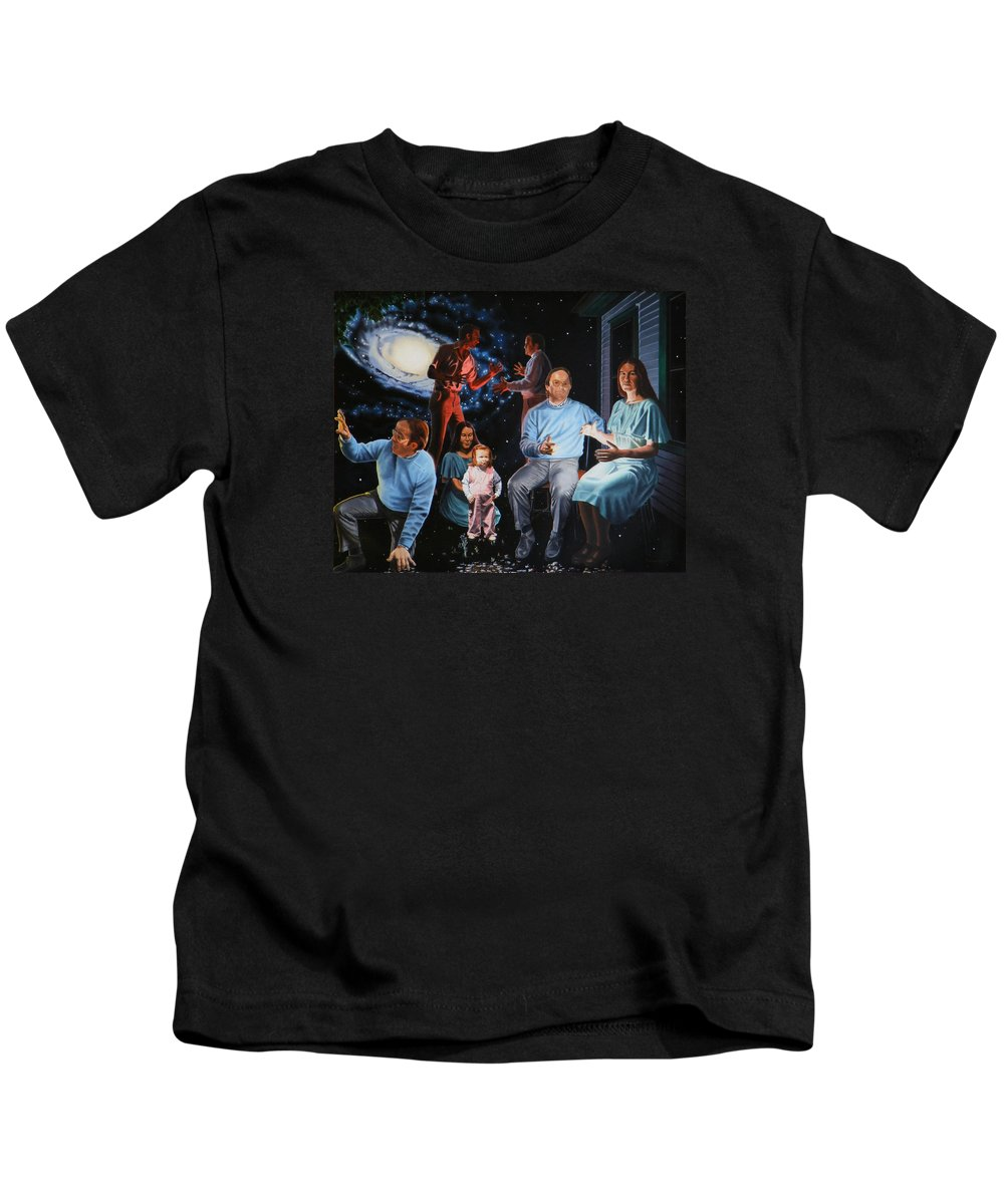 Surreal Kids T-Shirt featuring the painting Illumination Beyond Ursa Major by Dave Martsolf