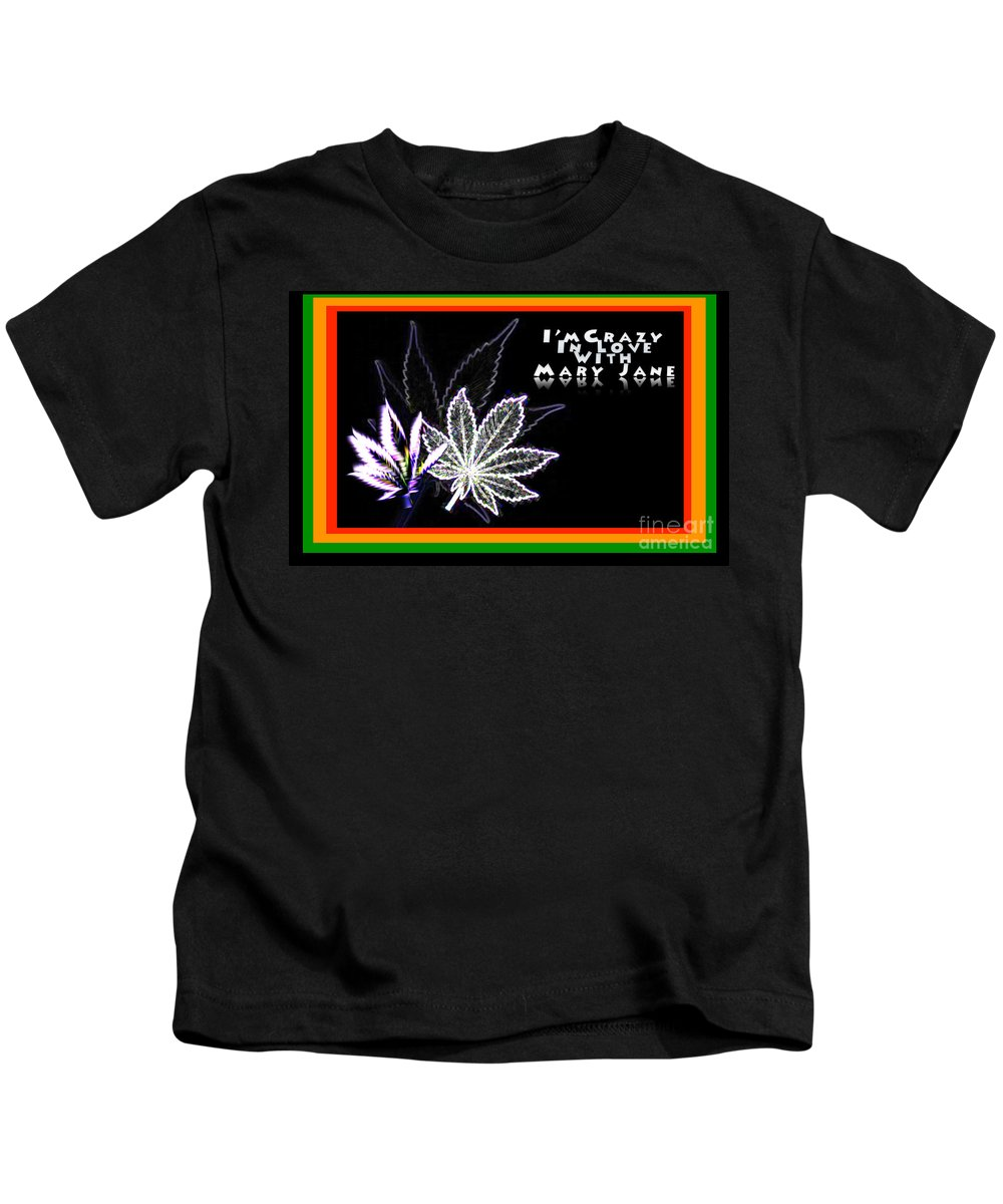 Africa Kids T-Shirt featuring the digital art I'm Crazy In Love With Mary Jane by Jacqueline Lloyd