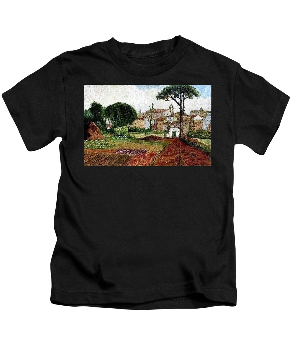 Old Rome-late-800 Kids T-Shirt featuring the painting Image 007 by Vincent Consiglio