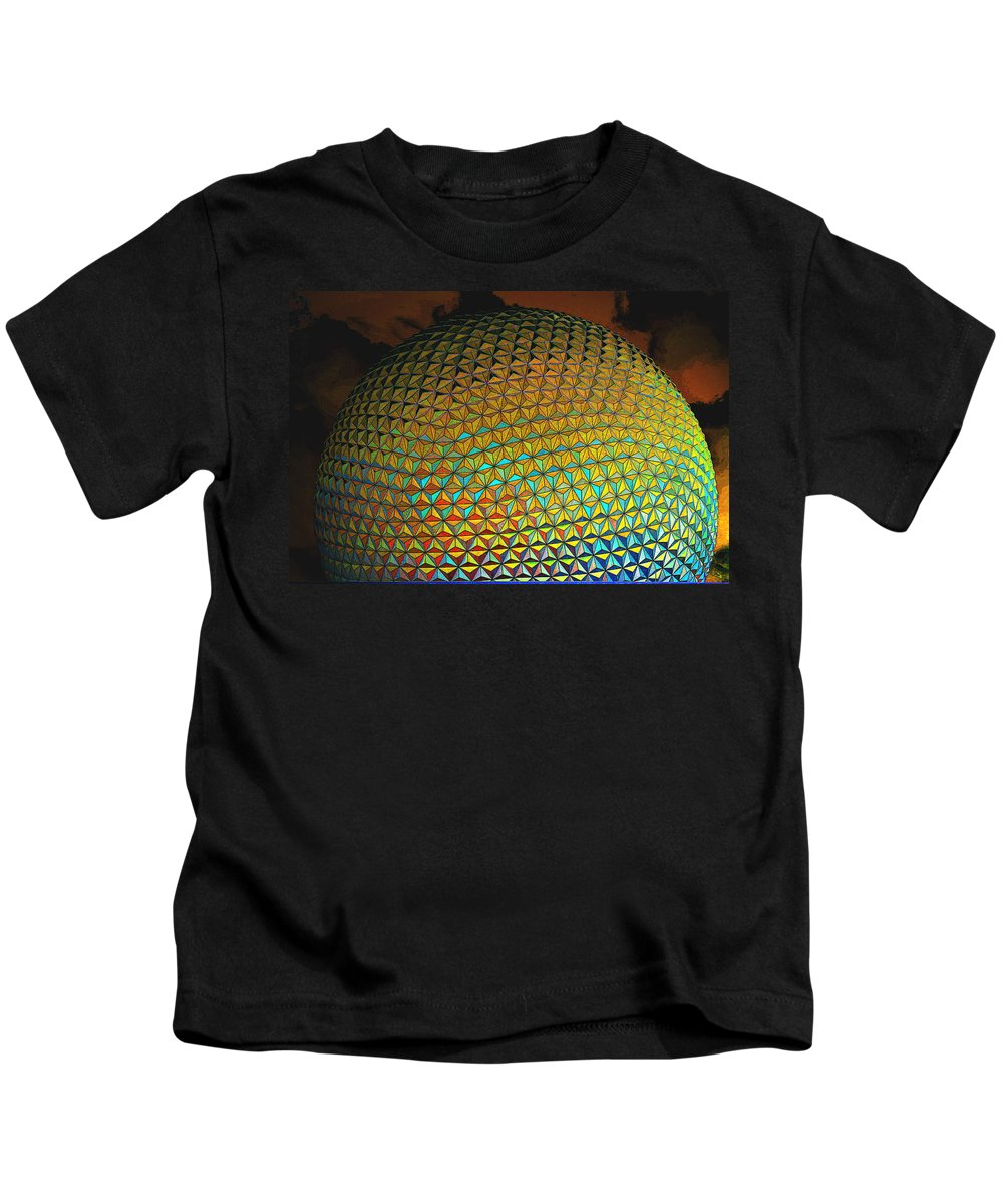 Epcot Kids T-Shirt featuring the photograph Imagination by Robert Meanor