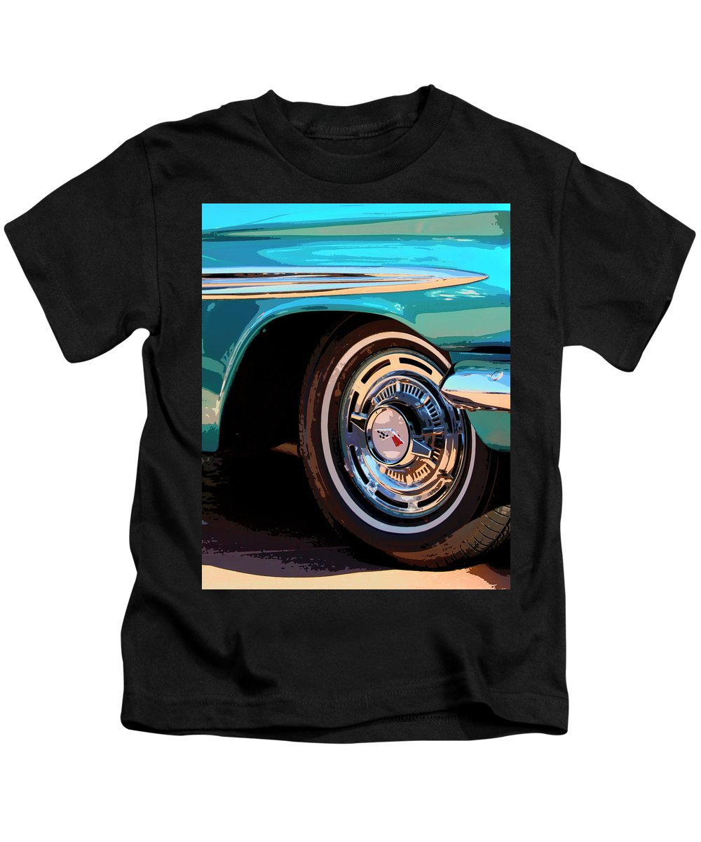 Classic Car Kids T-Shirt featuring the photograph Impala by William Dey