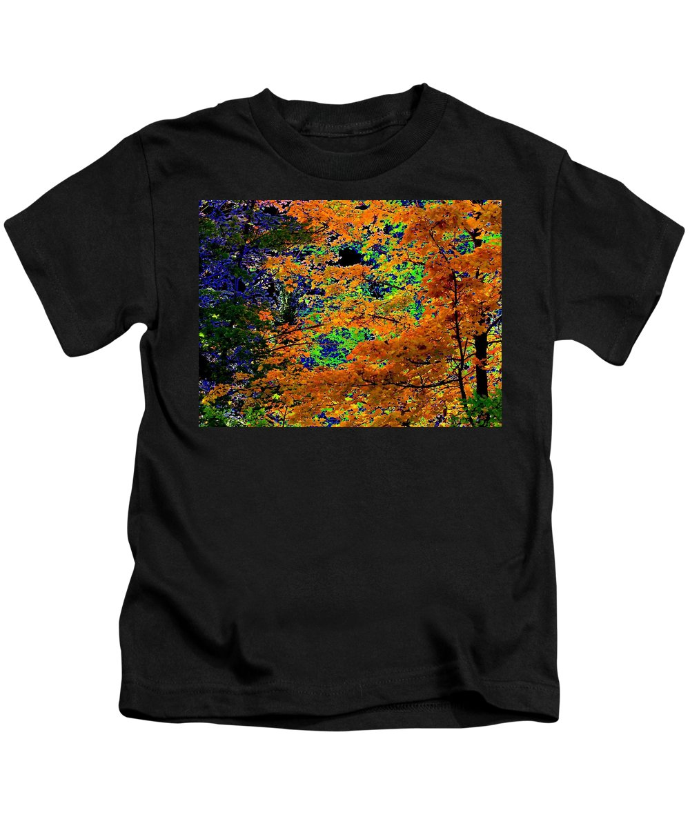 Impressions Kids T-Shirt featuring the digital art Impressions 3 by Will Borden
