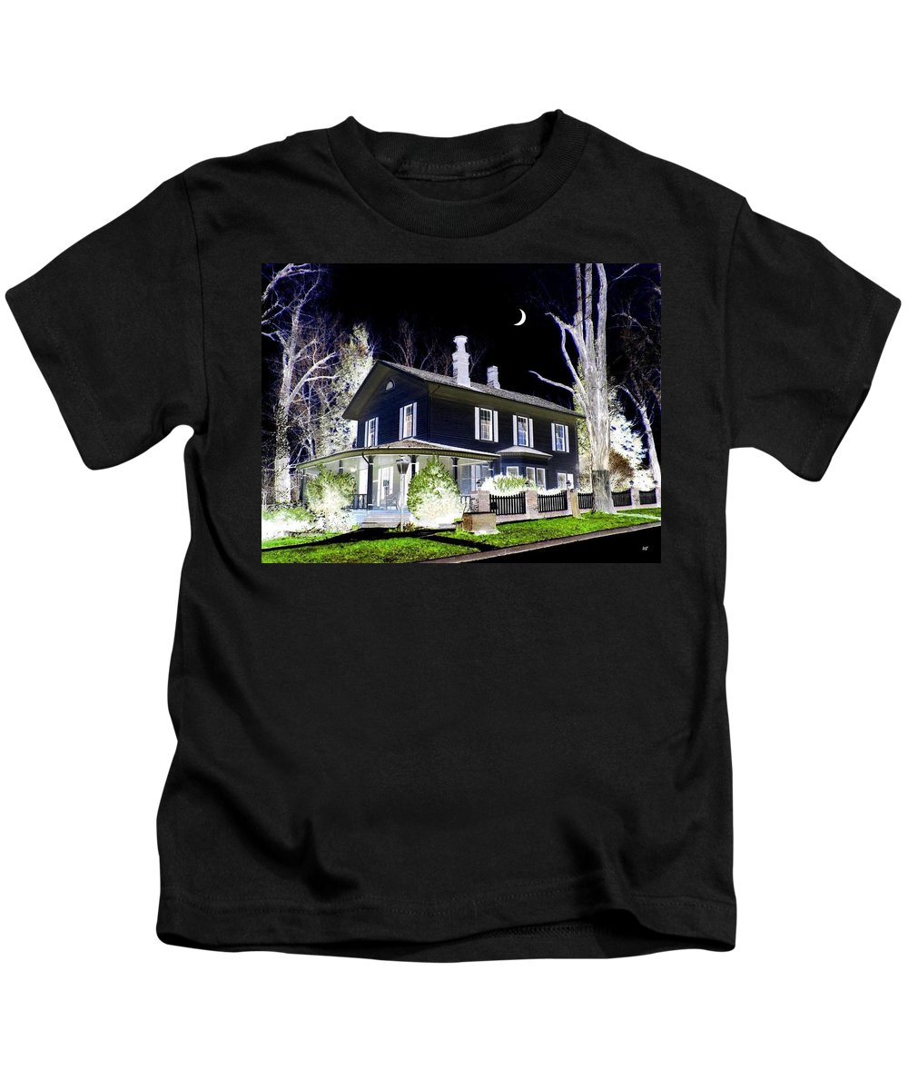 Impressions Kids T-Shirt featuring the digital art Impressions 5 by Will Borden