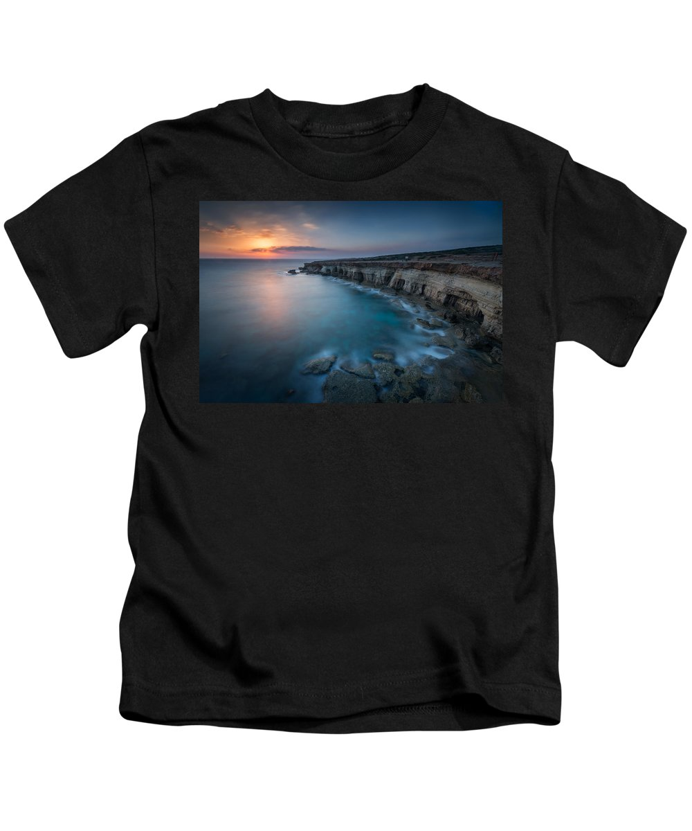 Seascape Kids T-Shirt featuring the photograph In Love With The Sun by Charalambos Charalambous