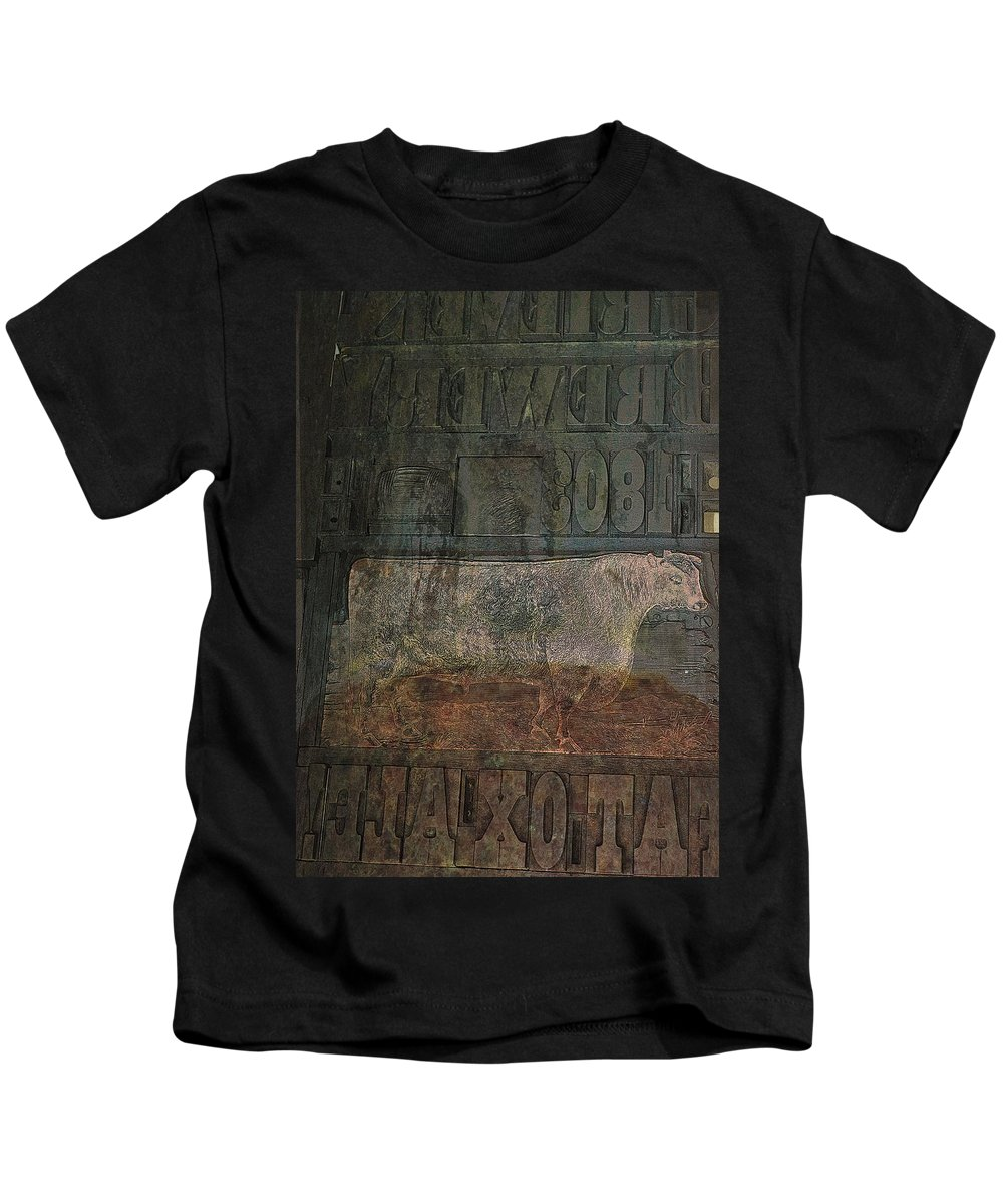 Cow Kids T-Shirt featuring the photograph In Search Of The Story by Char Szabo-Perricelli