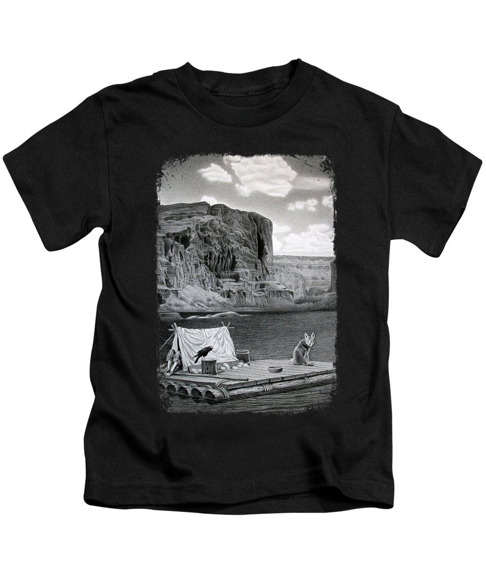 Canyon Drawings Kids T-Shirts
