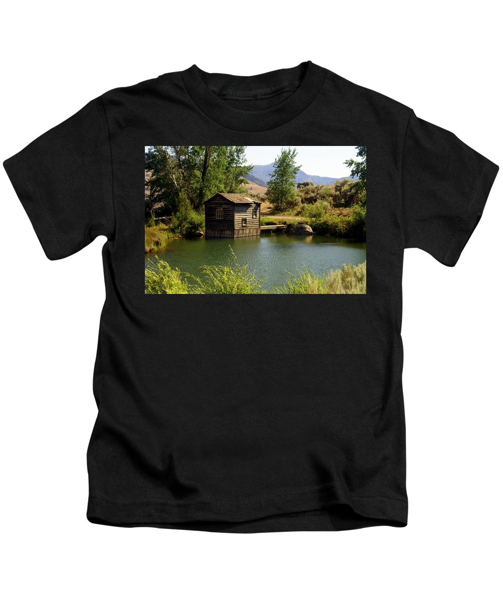 Yellowstone Kids T-Shirt featuring the photograph In The High Country by Marty Koch
