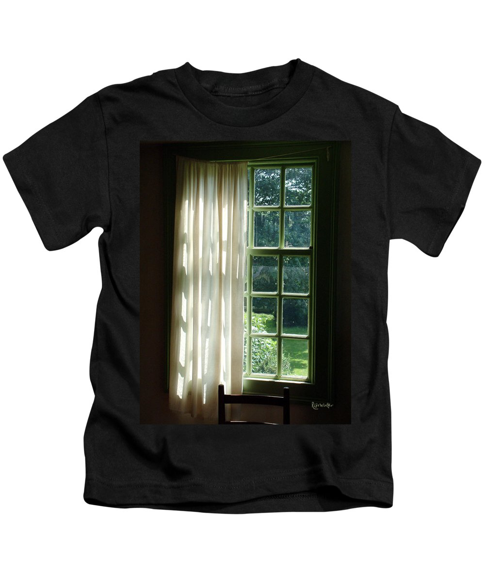 Window Kids T-Shirt featuring the photograph In The Quiet Of The Afternoon by RC deWinter