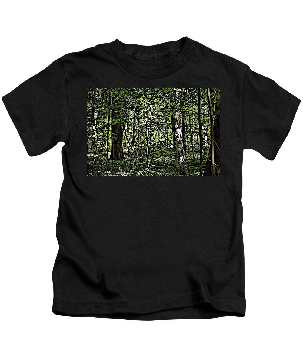 Landscape Kids T-Shirt featuring the photograph In The Woods Wc by David Lane