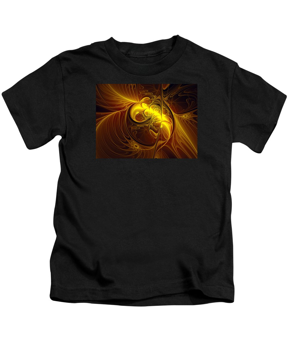 Abstract Kids T-Shirt featuring the digital art In Utero by Georgiana Romanovna