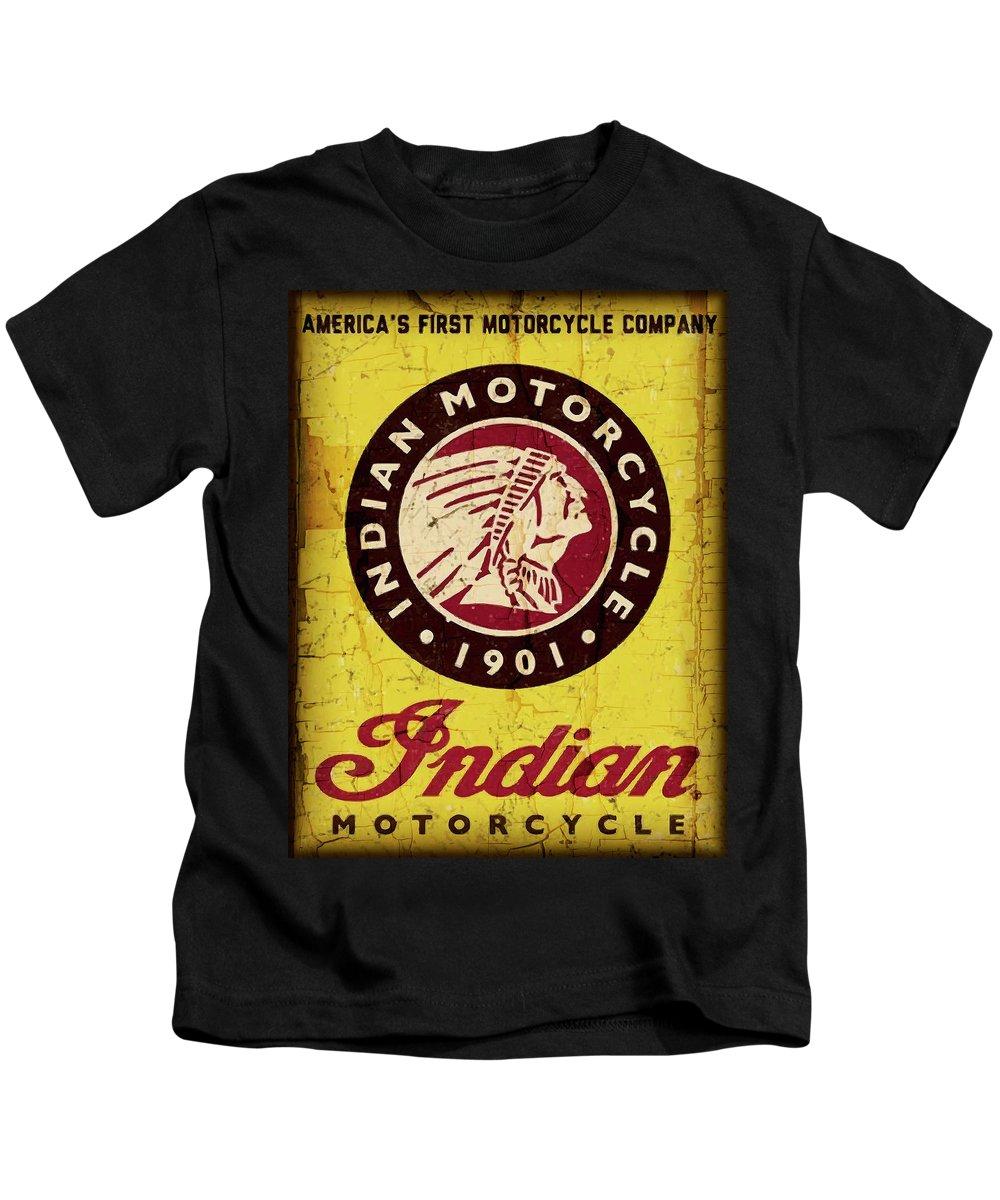 INDIAN MOTORCYCLE T American Motorcycle Logo 1901 HOODIE Black All