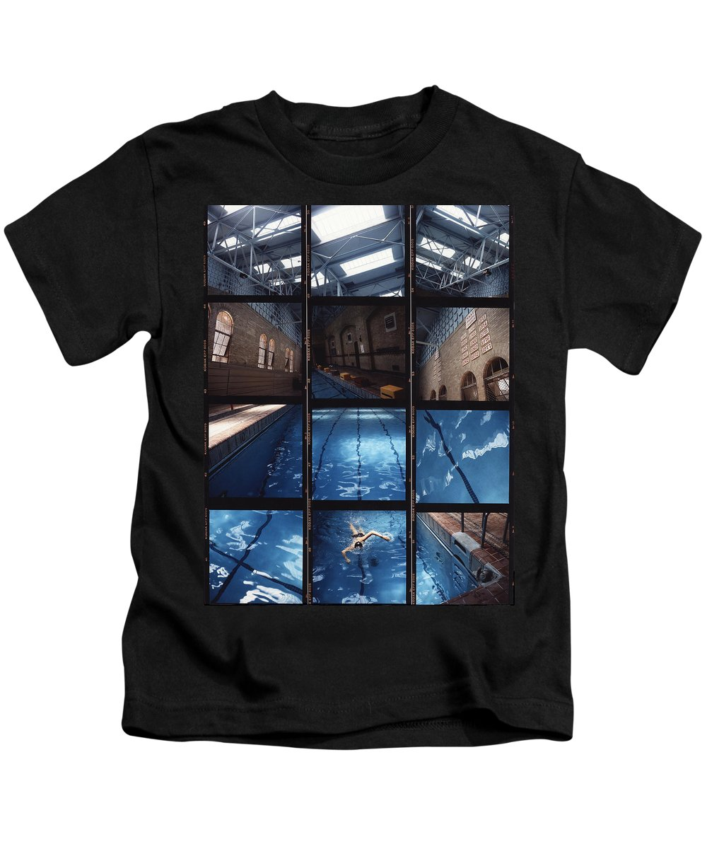 Pool Kids T-Shirt featuring the photograph Indoor Pool by Steve Williams